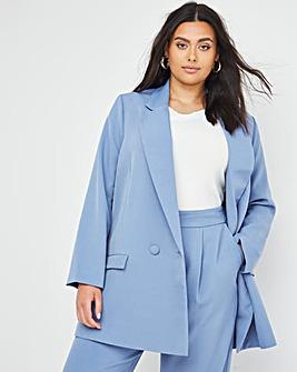 Simply Be Blue Oversized Blazer