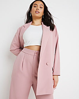 Dusty Pink Simply Be Oversized Relaxed Blazer