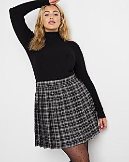Black Check Tennis Skirt