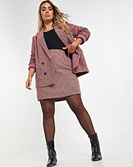 Houndstooth Aline Mini Skirt