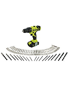 Combi Drill with 100 Piece Accessory Set