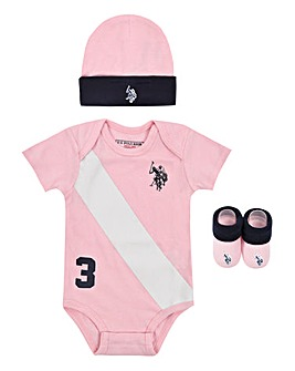 U.S. Polo Assn Baby Girl Gift Box Set