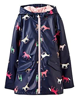 Joules Girls Raindance Rubber Coat