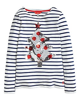 Joules Girls L/S Christmas Tree Top