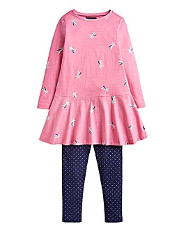 Joules Younger Girls Dress & Legging Set