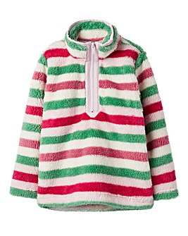Joules Younger Girls Half Zip Fleece