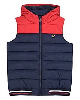 Lyle & Scott Boys Colour Block Gilet