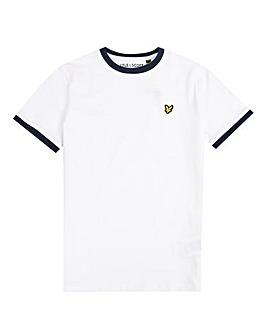 Lyle & Scott Boys White Ringer T-Shirt