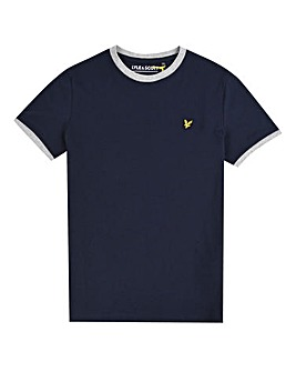 Lyle & Scott Boys Navy Ringer T-Shirt