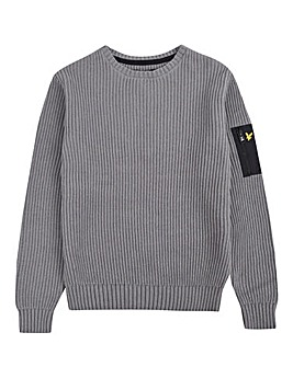 Lyle & Scott Boys Ribbed Knitted Jumper