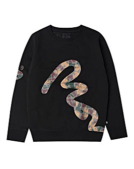 Money Boys Big Signature Camo Sweat