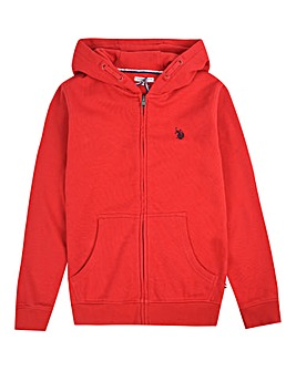 U.S. Polo Assn. Boys Red Zip Hoodie