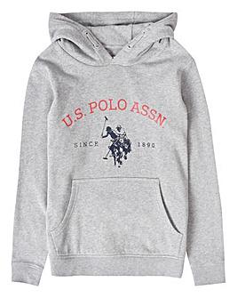U.S. Polo Assn. Boys Grey O/H Hoodie