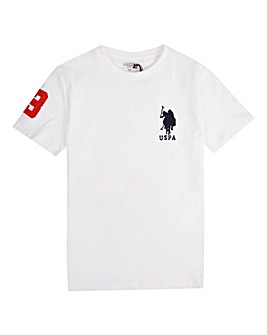 U.S. Polo Assn. Boys White DHM T-Shirt