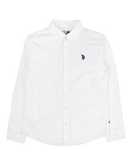 U.S. Polo Assn. Boys White Oxford Shirt