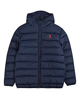U.S. Polo Assn. Boys Navy Puffa Jacket