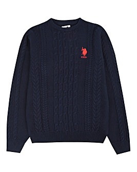 U.S. Polo Assn. Boys Cable Knit Jumper