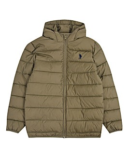 U.S. Polo Assn. Boys Khaki Puffa Jacket