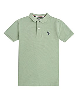 U.S. Polo Assn. Boys Green Core Polo