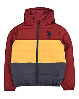 U.S. Polo Assn. Boys Heavy Puffa Jacket