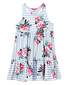 Joules Girls Juno Floral Print Dress