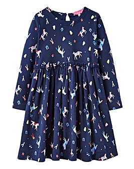 Joules Girls Hampton Horse Print Dress
