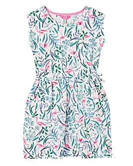 Joules Girls Jude Flamingo Print Dress