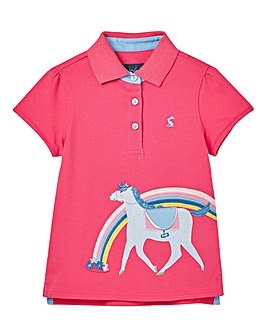 Joules Girls Moxie Horse Polo Shirt