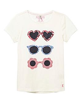 Joules Girls S/S Sunglasses T-Shirt