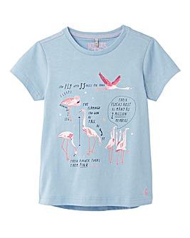Joules Girls Pixie S/S Flamingo T-Shirt