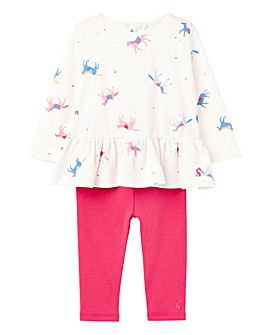 Joules Baby Girls Top and Legging Set