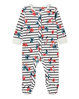 Joules Baby Girls Floral Print Sleepsuit
