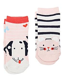 Joules Baby Girls Pack of 2 Socks