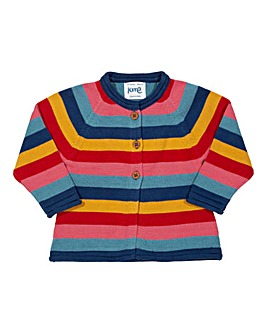 Kite Girls Stripy Kitty Cat Cardi