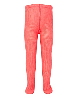 Kite Cable Rib Tights Pink