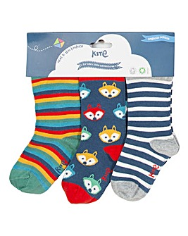 Kite Three Pack Foxy Socks