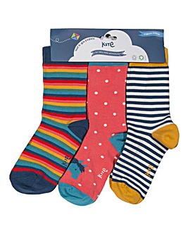 Kite Three Pack Pony Socks