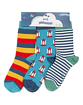 Kite Three Pack Rocket Socks