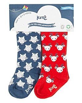 Kite Two Pack Owl Socks