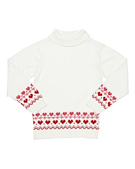 Kite Girls Nordic Heart Jumper