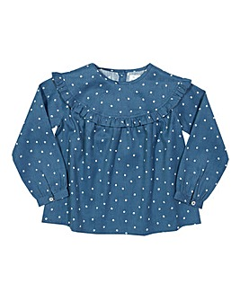 Kite Girls Spotty Frill Blouse