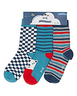 Kite Three Pack Polar Socks
