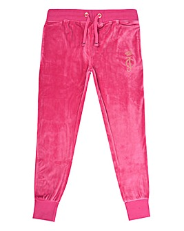 Juicy Couture Girls Pink Velour Jogger