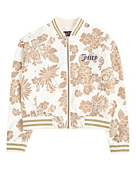 Juicy Couture Girls Floral Glitz Jacket
