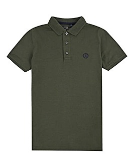 Henri Lloyd Boys Khaki Pop Collar Polo