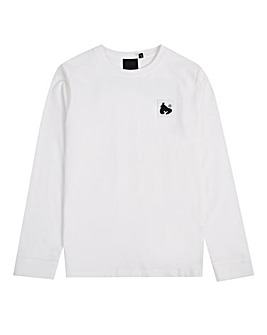 Money Boys White Block Ape L/S T-Shirt