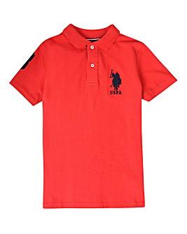 U.S. Polo Assn. Boys Red DHM Polo