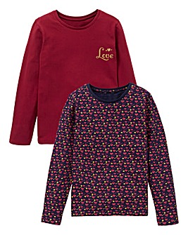 KD Girls Pack of Two Long Sleeve Tops