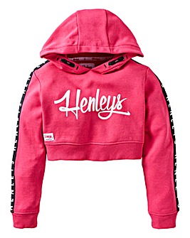 Henleys Girls Cropped Overhead Hoodie