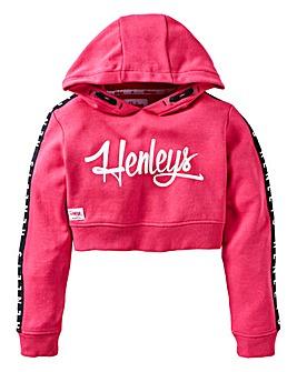 Henleys Girls Cropped Overhead Hoodie